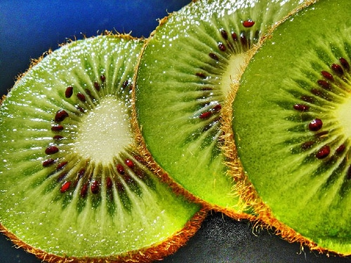 Kiwi Fruit Closeup