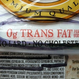 Trans Fat Loophole