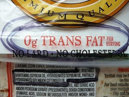 Trans Fat Loophole