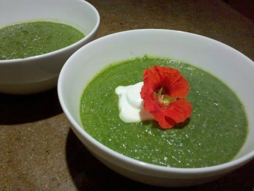 Spinach and Pea Soup