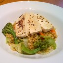 Farro with Vegetables and Simmered Tofu