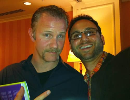 Andrew Wilder with Morgan Spurlock