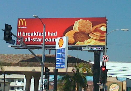McDonald's Breakfast Billboard