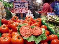 Tomatoes at Pike Place Market