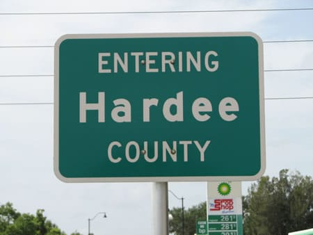 Entering Hardee County