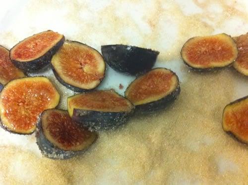 Dip figs in Sugar