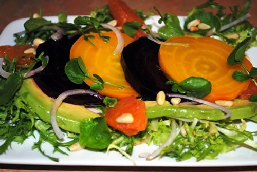 Roasted Beet Salad with Avocado and Orange