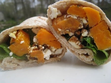 Sweet Potato and Feta Wrap