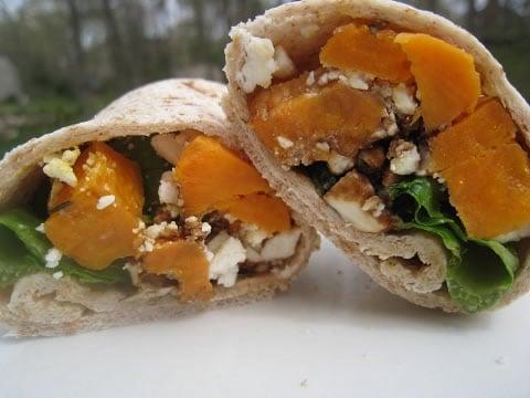 Sweet Potato and Feta Wrap