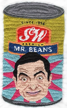 Canned Beans Embroidery