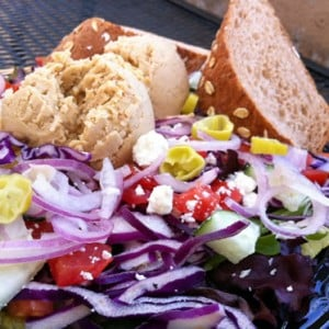 Togo's Salad with Hummus