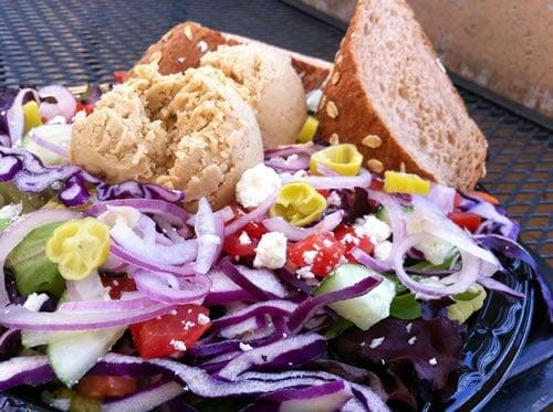 Togo's Salad with Hummus