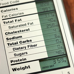Nutrition Scale Closeup