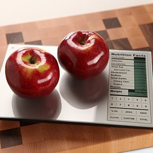 Nutrition Scale Weighing Apples