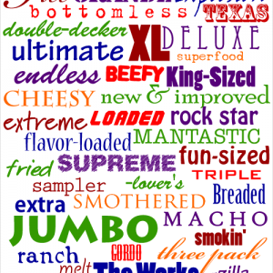 Objectionable Food Adjectives