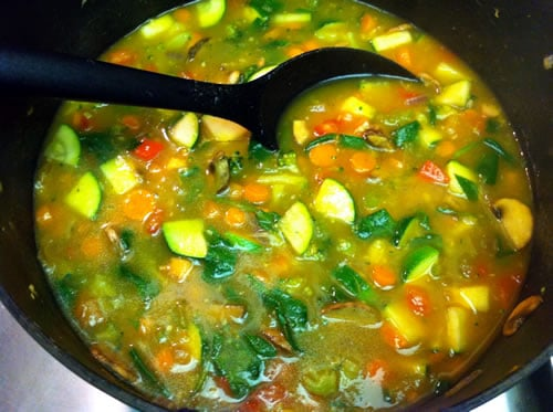 Veggie Soup With Pumpkin Puree