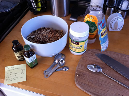 Making Homemade Granola