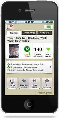 Fooducate iPhone App
