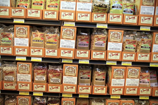 Shelves of Bob's Red Mill Products