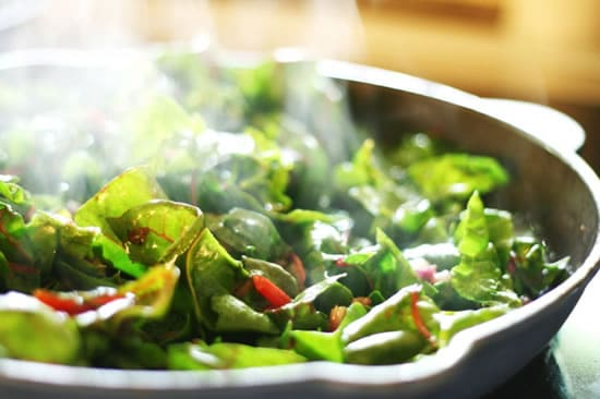 Cooking Swiss chard