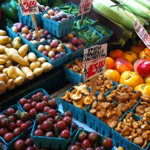 Unprocessed Produce at Pike Place Market
