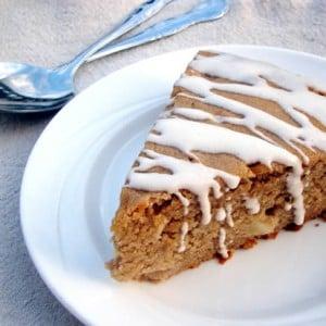 Apple Spice Cake with Cinnamon Greek Yogurt Icing
