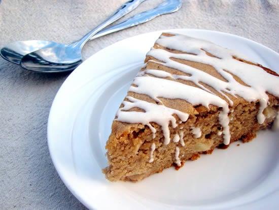 ... Wheat Apple Spice Cake with Cinnamon Greek Yogurt Icing - Eating Rules