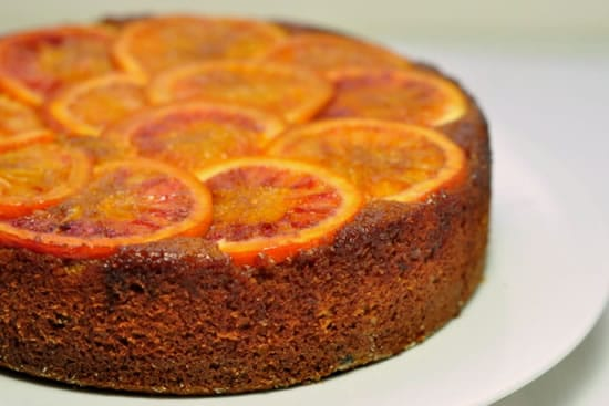 Blood Orange Almond Upside-Down Cake
