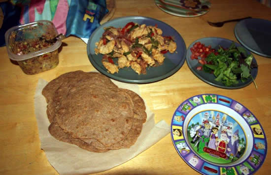 Homemade Chicken Fajitas with Whole Wheat Tortillas