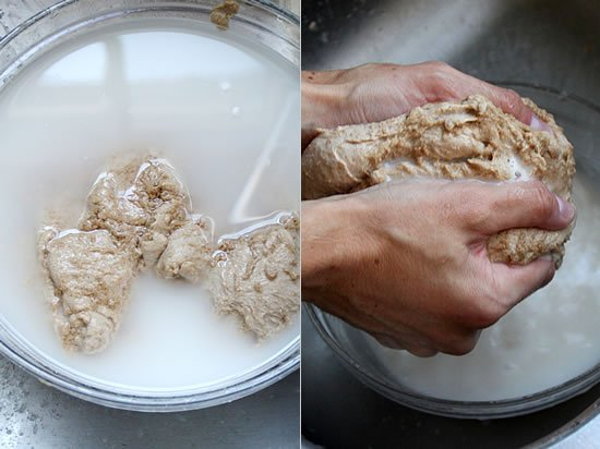 How To Make Seitan: Knead and Rinse the Dough