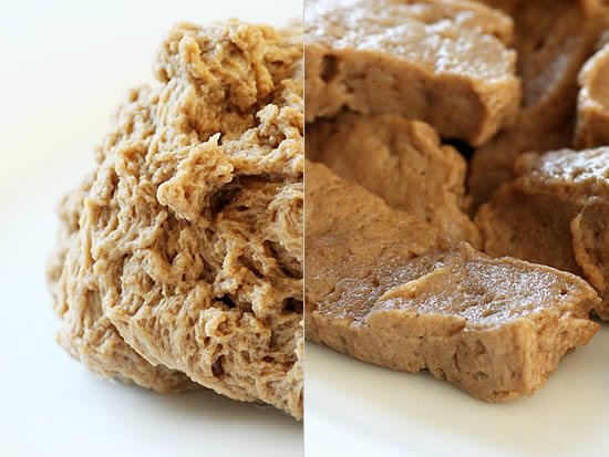 How To Make Seitan: The finished homemade Seitan!