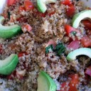 Quinoa with Tomatoes, Basil, and Avocado