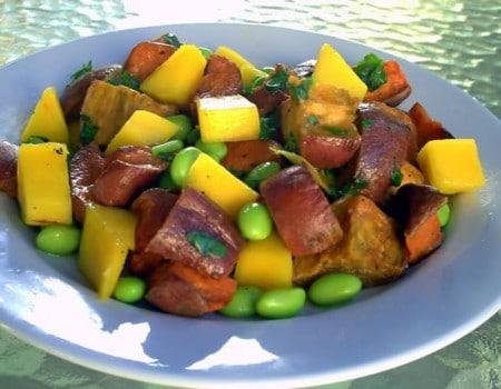Sweet Potate Edamame Salad