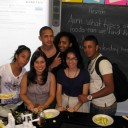 """Zucchini """"pasta"""" making party in class—High School for Health Careers and Sciences."""