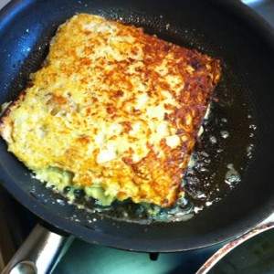 Matzah Latkes in the Pan