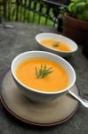 Velvety Chilled Carrot Rosemary Soup