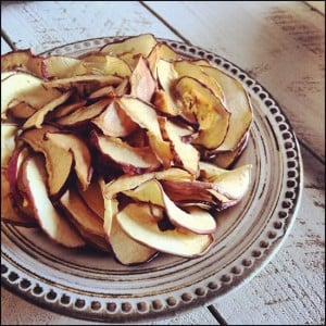 Dried Apple & Pear Chips for October #Unprocessed