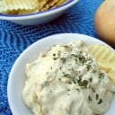 Homemade French Onion Chip Dip by Katie Kimball, from eatingrules.com