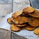 Baked Sweet Potato Chips by Laura Bashar - from eatingrules.com