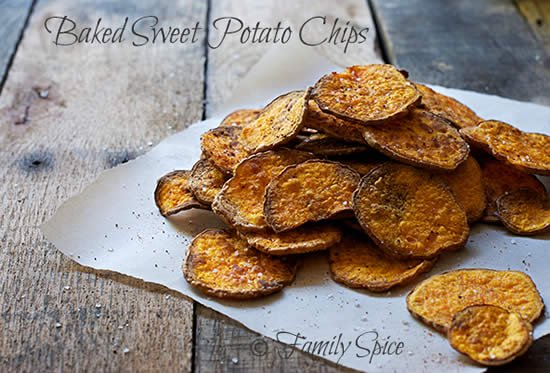 Baked Sweet Potato Chips to Win Over Your Family - Eating Rules