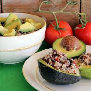 Black Bean Quinoa Avocado Salad