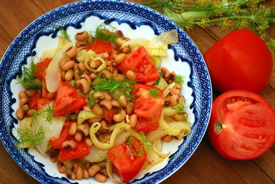 Black-Eyed Peas with Fennel