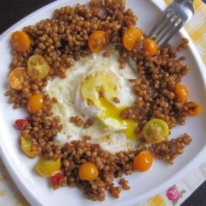 A Deconstructed Breakfast Sandwich with Whole Grains and Eggs