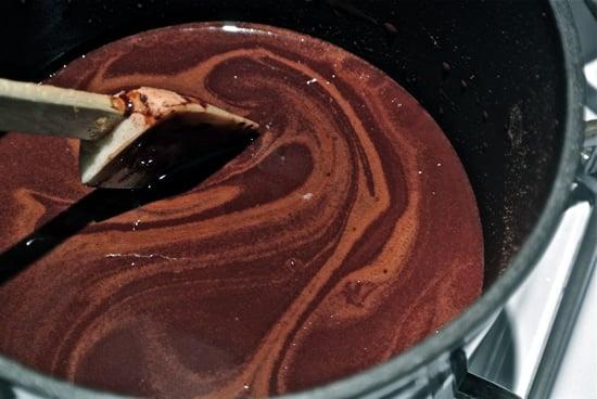 Homemade Chocolate Stirring