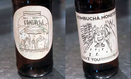 Fun Kombucha Bottle Labels