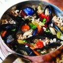 Mediterranean Mussels with Farro