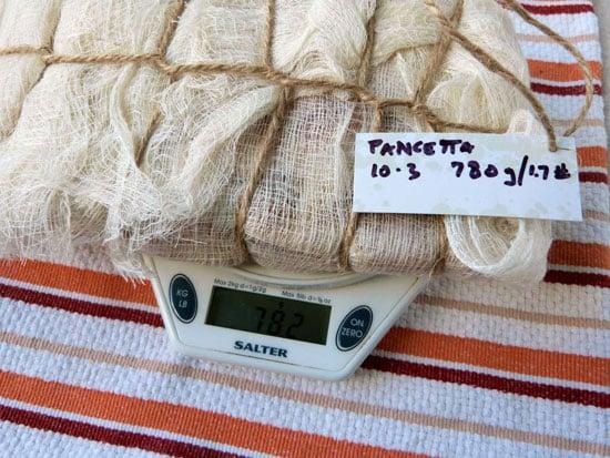 weigh pancetta