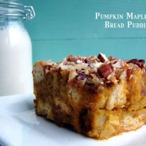 Pumpkin Maple Nut Bread Pudding