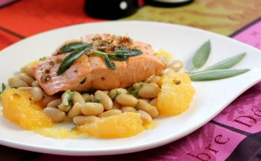 Salmon, Citrus, and Sage