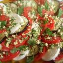 Tomato, Mozarella, and Eggplant Salad